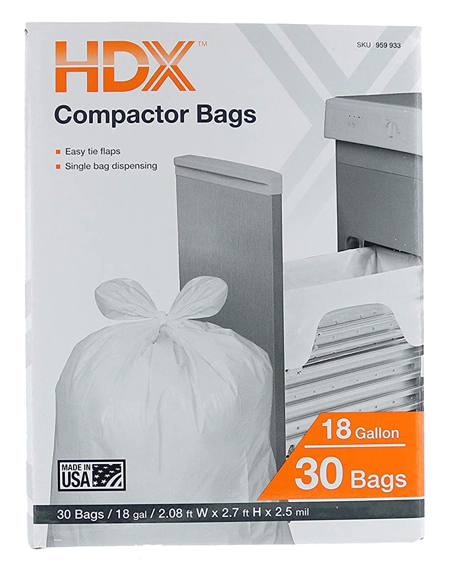HDX 18 Gallon 2.5 Mil Trash Compactor Bags (2-Pack/ 60 Total)