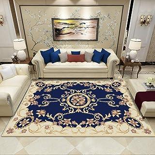 Tapis Chambre Tapis de Salon Style Moderne Style de Cour Simple Bleu Tapis de Chambre, Tapis d'intérieur Moelleux 200X300(...