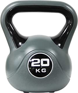 Powrx Kettlebell plast 2 – 20 kg inkl. träning (engelska språket inte garanterat) kettlebells i olika färger och vikter go...