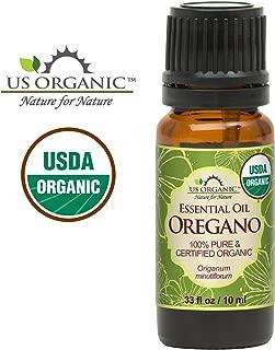 US Organic 100% Pure Oregano Essential Oil - USDA Certified Organic, Steam Distilled (10 ml)