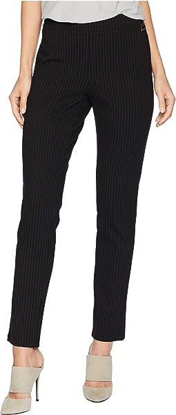 Pinstripe Pull-On Pants