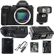 Fujifilm GFX 50S 51.4MP Medium Format Mirrorless Camera Body - Bundle with Fuji VGGFX1 Vertical Battery Grip, 256GB SDXC U...