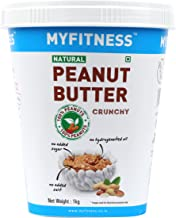 MYFITNESS Gold Natural Peanut Butter Crunchy 1Kg (Unsweetened)