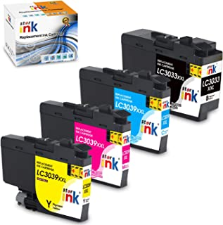 Starink Comaptible Ink Cartridge Replacement for LC3039XXL Work with MFC-J5845DW MFC-J5845DWXL MFC-J5945DW MFC-J6545DW XL MFC-J6545DW Printers 4 Pack (1 Black 1 Cyan 1 Magenta 1 Yellow)