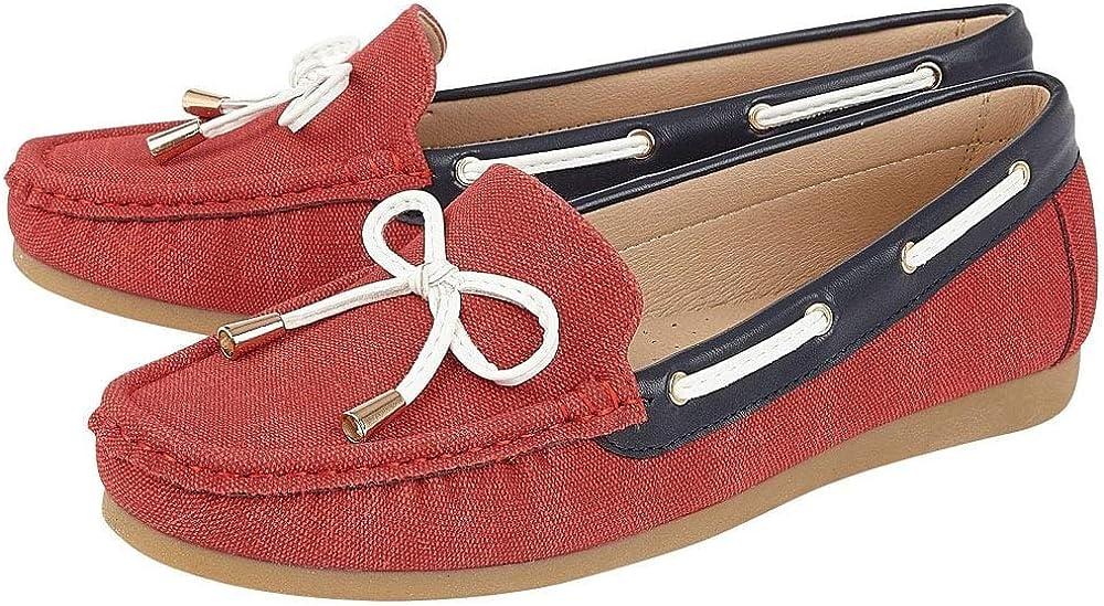 Lotus Hannah Womens Moccasin Boat Shoes