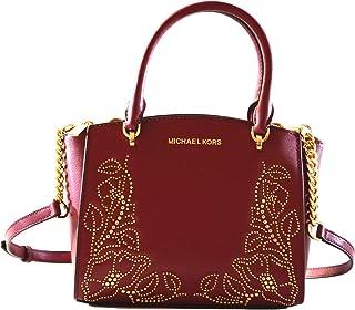 f91d26611368 Michael Kors Women's Ellis Small Convertible Leather Gold Toned Studs  Satchel Crossbody Bag Purse Handbag
