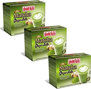 Gold Kili Instant Matcha Green Tea Ginger Latte (Pack of 3) 30 Packets
