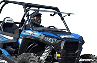 SuperATV Heavy Duty Scratch Resistant 3-IN-1 Flip Windshield for Polaris RZR 900/4 900 / S 900 (NOT For Ride Command Models) - Has 3 Different Settings!
