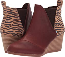 Dark Brown Pull Up Leather/Zebra Suede