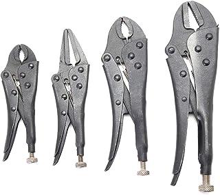 4 قطع مجموعة ملقط قفل كماشة أداة مجموعة تعويض المعالجة الحرارية 250mm Power Tools & Hand Tools