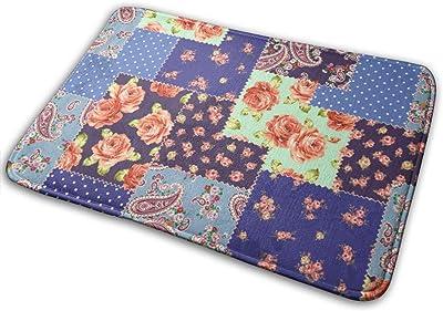 """Cute Patchwork Doormat Front Door Mat Non Slip Door Rug Shoes Scraper Rug Carpet - 23.6"""" x 15.8"""""""
