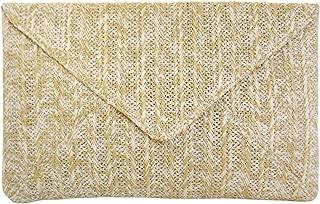 JNB Women's Straw Envelope Clutch