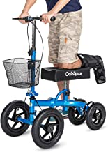 OasisSpace All Terrain Knee Scooter, with 12 inches Air Filled Wheels, Steerable Knee..