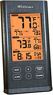 Wittime 3065 Indoor Thermometer Digital Hygrometer Humidity Gauge with Temperature Monitor