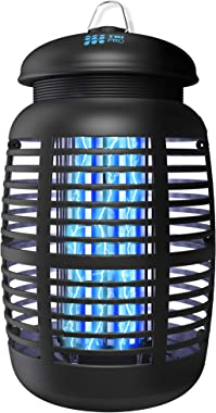 [2 in 1] Bug Zapper & Attractant - Effective 4250V Electric Mosquito Zappers Killer - Insect Fly Trap, Waterproof for Ind