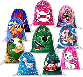Drawstring Backpack for Kids Boys and Grils Birthday Party Gifts Bags 10 Pack for School,Travel. Gym,Outdoor Sports & Storage