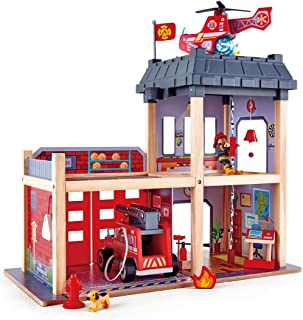 Hape E3023 Fire Station Playset L: 23.6, W: 11.8, H: 18.8 inch