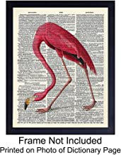 Flamingo Dictionary Art Print - Vintage Upcycled Steampunk Wall Art Poster- Shabby Chic Home Decor for Bedroom, Living Room, Bathroom, Office - Gift for Women - 8x10 Photo- Unframed