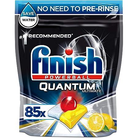 Finish Quantum Ultimate Dishwasher Lemon Scent, Pack of 85 Tablets