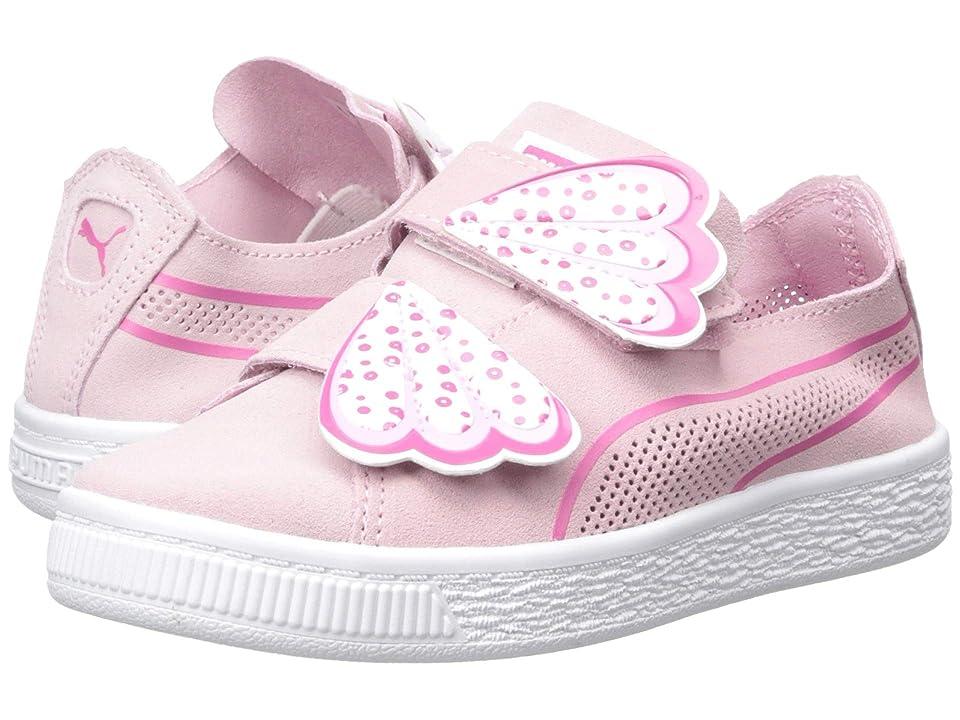 Puma Kids Suede Deconstruct Butterfly V (Little Kid) (Pale Pink/Fuchsia Purple/Puma White) Girls Shoes