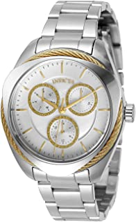 Invicta Women's Bolt Quartz Watch with Stainless Steel Strap, Silver, 18 (Model: 31222)