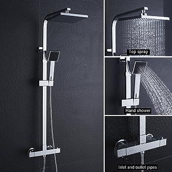 BONADE Conjunto de ducha con grifo termostático Columna de ducha ...