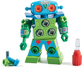 Educational Insights Design & Drill Robot: Kid-Powered Introduction to STEM for Preschoolers, Great Gift for Boys & Girls 3+