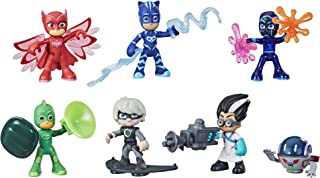 PJ Masks Hero and Villain Figure Set Preschool Toy, 7 Action Figures with 10 Accessories, Ages 3 and Up