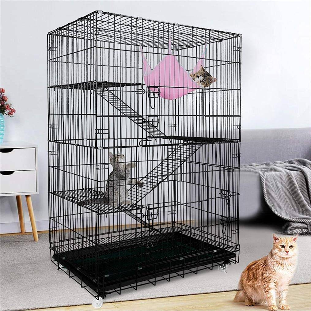 Foldable Cat Ferret Cage 4 San Antonio Mall Chinch Outlet sale feature Folding Portable Tier Rolling