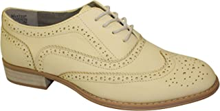 Wanted Shoes Women's Babe Oxford, Yellow, 8 M US
