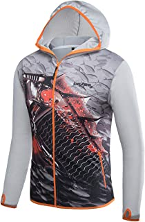 POKEE Fishing Clothing Men Breathable Sun UV Protection Outdoor Sportswear Clothes Fishing Shirt