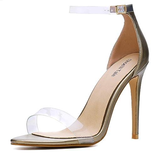 2fa060b24fb Gold Clear Heels: Amazon.com