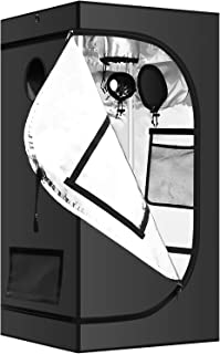 """iPower GLTENTXS5 Hydroponic Grow Tent, 24"""" x 24"""" x 58"""", Black"""