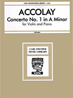 Accolay - Concerto No. 1 in A Minor for Violin and Piano (Carl Fischer Music Library No. 518)