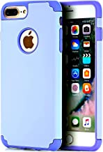CaseHQ light-Purple Extreme Heavy Duty case for iPhone 7 Plus,iPhone 8 Plus, Protective Case soft rubber TPU PC Bumper Anti-Scratch Shockproof Rugged Protection Cover for apple iPhone 7/8 Plus phone