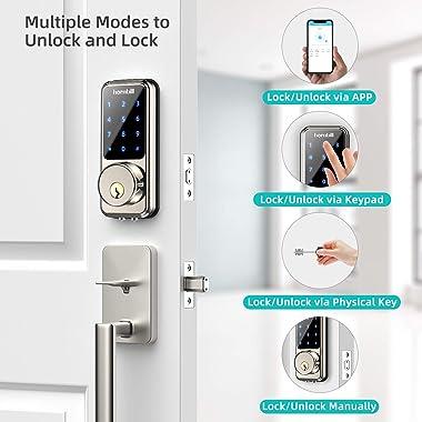 Smart Lock Keyless Entry Deadbolt Door Lock, Digital Electronic Bluetooth Code Door Lock Keypad, Home Smart Locks Front Door