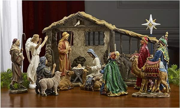 三个国王礼物圣诞豪华版的原创礼物 16 件 10 英寸圣诞礼物套装真乳香黄金和没药