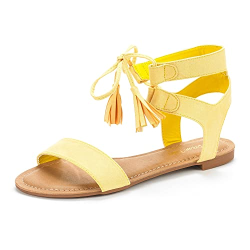 ace228f8624 DREAM PAIRS Women s Ankle Strap Gladiator Flat Sandals