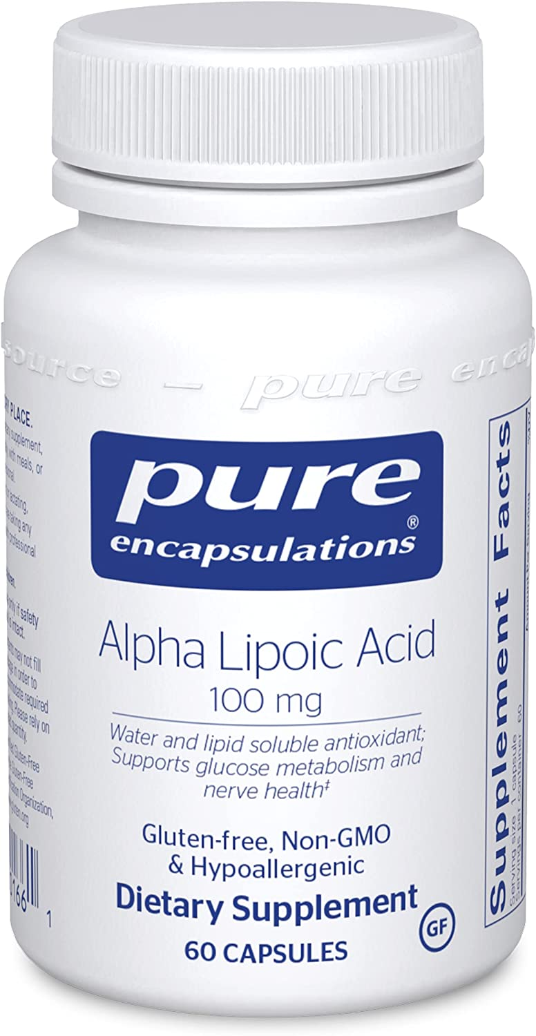 Pure Encapsulations Regular store Alpha Lipoic Acid Supplement 100 fo mg ALA Large special price