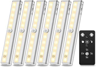 Anbock Under Cabinet Lighting Remote control LED Closet Light Battery Powered Lights Wireless Under Counter Lighting Touch LED Lights Stick on Lights Perfect for Kitchen Stairs Pantry Warm White 3000K
