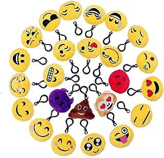 Emoji Llavero,Emoticon Llavero Lindo Juguete de Peluche Bolsa de Fiesta Suave Relleno de Llavero