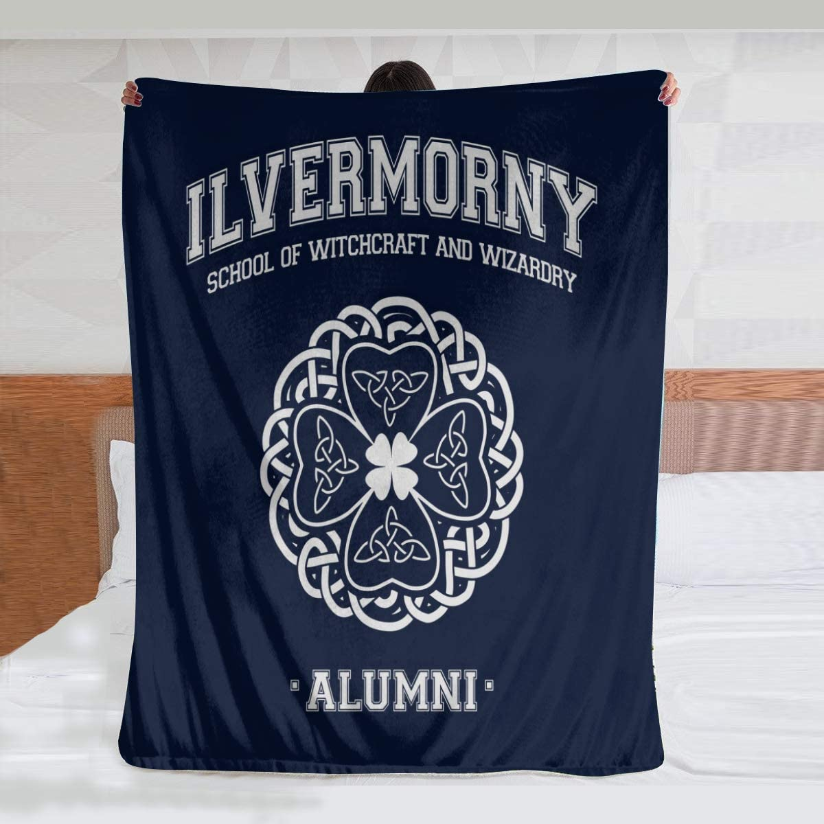 HCLIFE Ilvermorny In a popularity Alumni ! Super beauty product restock quality top! Dark Throw Blanket P Super Warm Soft