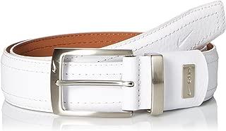 Nike Men's Standard G-Flex Pebble Grain Leather Belt, White, 34