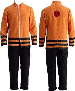 Thev Movie Uzumaki Naruto Boruto Halloween Cosplay Costume 2Pcs Coat and Pants