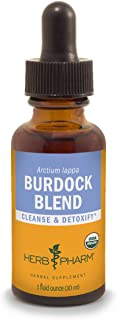 Herb Pharm Certified Organic Burdock Blend Liquid Extract to Support Cleansing & Detoxifying - 1 Ounce (DBURD01)
