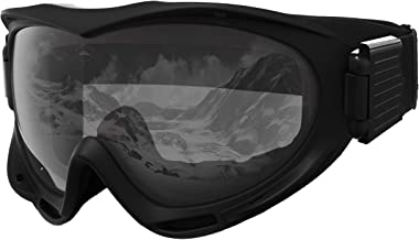 Tough Outdoors Ski & Snowboard Goggles - Snow Goggles for Skiing, Snowboarding, Motorcycling & Winter Sports - Anti-Fog & Helmet Compatible - UV400 Protection - Fits Men, Women & Youth