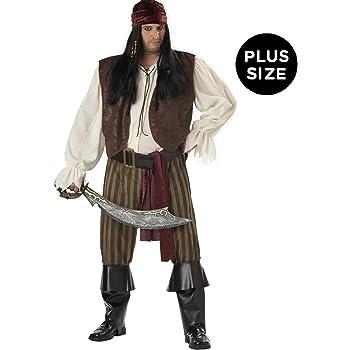 Cutthroat Pirate Mens Plus Size Costume Size PLUS