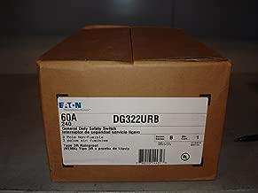 Eaton DG322URB 3 Wire 3 Pole Non-Fusible B Series General-Duty Safety Switch 240 Volt AC 60 Amp NEMA 3R