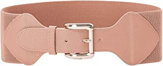 GRACE KARIN Women Vintage Elastic Stretchy Leather Wide Waist Cinch Belt