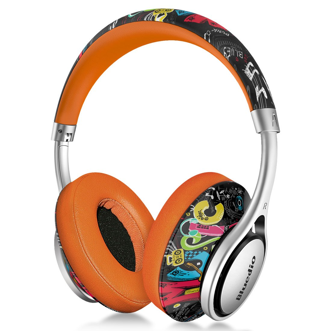 Amazon Com Bluedio A2 Air Bluetooth Headphones Over Ear With Carring Case 3d Stereo Lightweight Stylish Wireless Headset With Microphone Foldable Fashionable Surround Sound For Pc Cell Phones Doodle Electronics